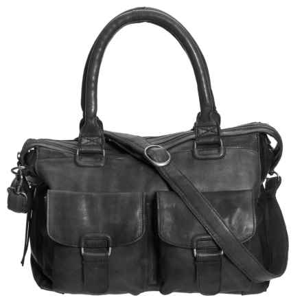 Day & Mood Aya Satchel - Leather (For Women) in Black - Closeouts