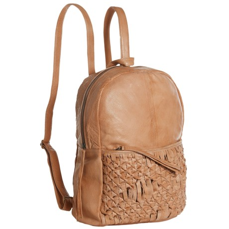 Day & Mood Berry Backpack - Leather (For Women) in Camel