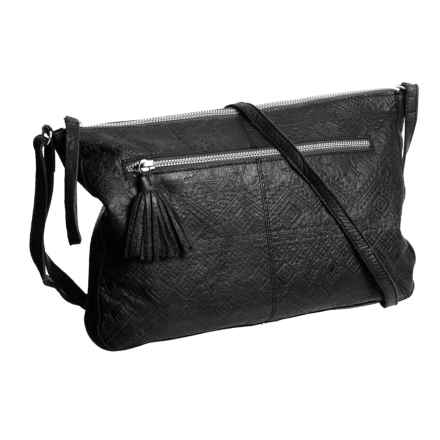 Day & Mood Carla Crossbody Bag - Leather (For Women) in Black - Closeouts