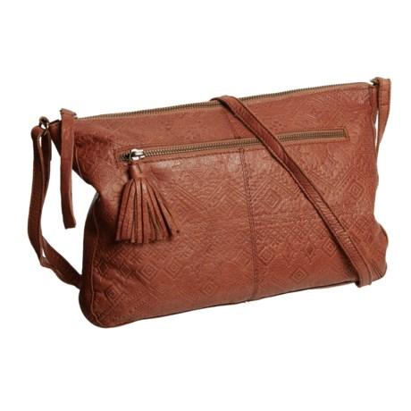 Day & Mood Carla Crossbody Bag - Leather (For Women) in Cognac
