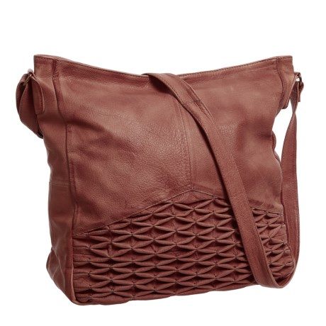 Day & Mood Isa Hobo Bag - Leather (For Women) in Warm Brown
