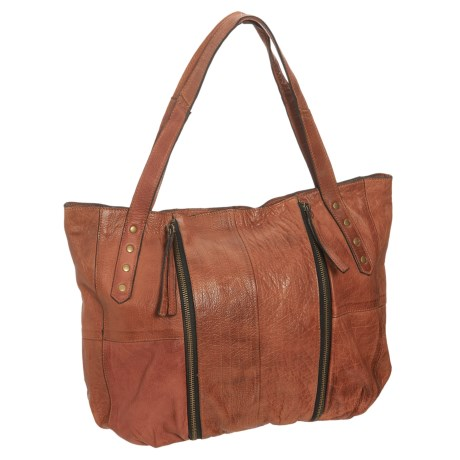 Day & Mood Leather Shoulder Bag (For Women) in Whiskey