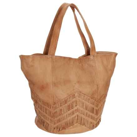 Day & Mood Peony Tote Bag - Leather (For Women) in Camel - Closeouts