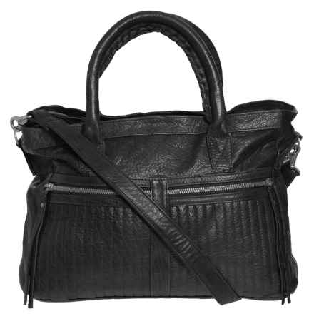 Day & Mood Tara Satchel - Leather (For Women) in Black - Closeouts