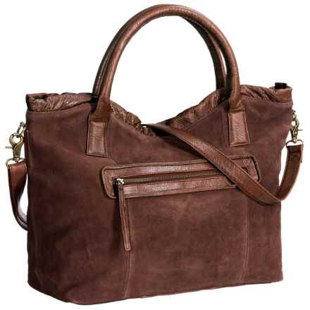Day & Mood Weslee Satchel - Buffalo Suede-Leather (For Women) in Warm Brown - Closeouts