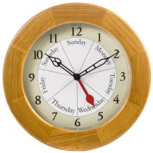 DayClock Contemporary Clock - Oak in See Photo - Closeouts