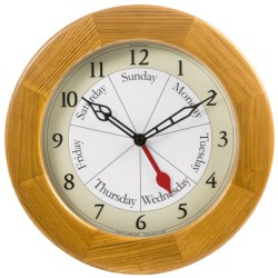 DayClock Contemporary Clock - Oak in See Photo
