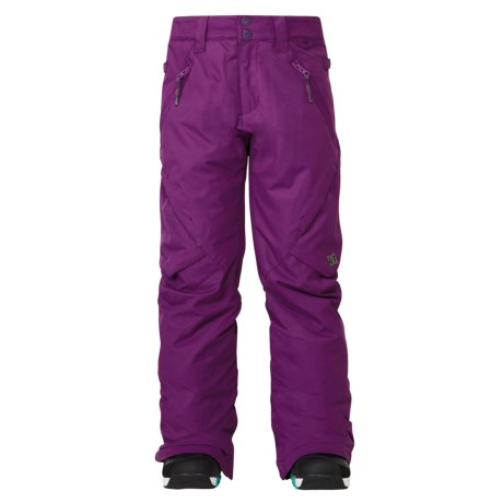DC Shoes Ace Snowboard Pants - Insulated (For Girls) in Gloxinia