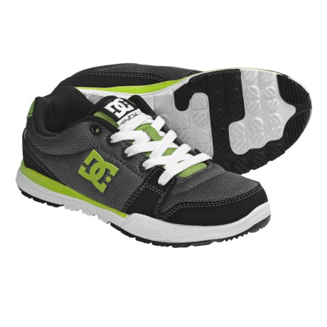 DC Shoes Alias Lite Skate Shoes (For Boys and Girls) in Black/Dark Shadow/Green