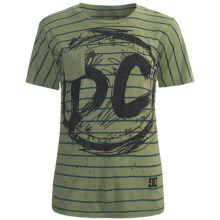 DC Shoes All Stripes Pocket T-Shirt - Cotton Jersey, Short Sleeve (For Women) in Olive - Closeouts