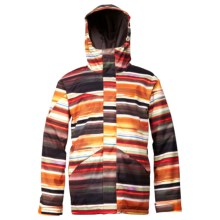 DC Shoes Amo Snowboard Jacket - Insulated (For Men) in Autumn Glory/Stripe 1 - Closeouts
