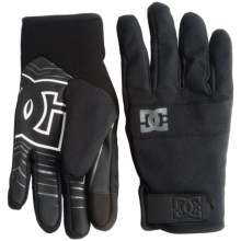 DC Shoes Antuco Snow Gloves - Insulated (For Men) in Anthracite - Closeouts