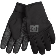DC Shoes Antuco Snowboard Gloves - Insulated (For Men) in Black - Closeouts