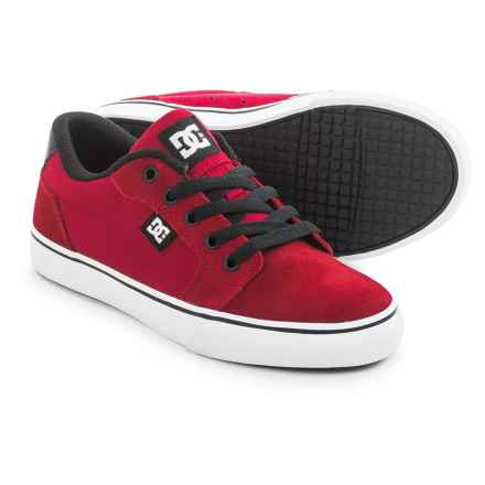 DC Shoes Anvil Shoes - Suede (For Little and Big Boys) in Red/Black - Closeouts