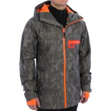 DC Shoes Axis 15 Ski Jacket - Waterproof (For Men) in Pewter-Pattern 1 - Closeouts
