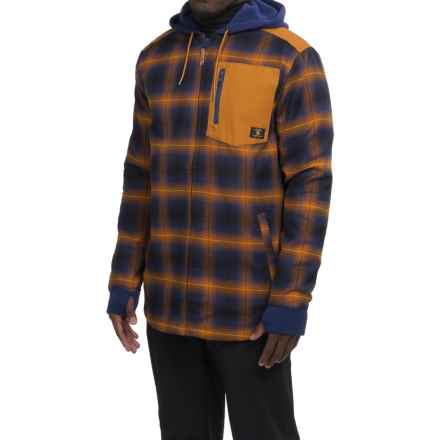 DC Shoes Backwoods Flannel Shirt Jacket - Insulated (For Men) in Cathay Spice - Closeouts