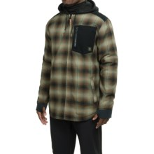DC Shoes Backwoods Flannel Shirt Jacket - Insulated (For Men) in Sea Spray - Closeouts