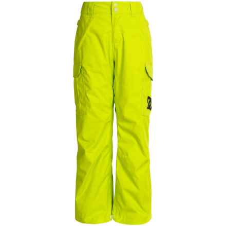 DC Shoes Banshee Snow Pants (For Big Boys) in Lime Punch - Closeouts