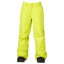 DC Shoes Banshee Snowboard Pants - Insulated (For Boys) in Sulphur Spring - Closeouts