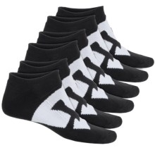 DC Shoes Big DC Logo Socks - 6-Pack, Below the Ankle (For Men) in Black - Closeouts
