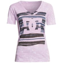 DC Shoes Blanko T-Shirt - Cotton Jersey, Short Sleeve (For Women) in Orchid - Closeouts