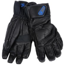 DC Shoes Boyce Snowboard Gloves - Insulated, Leather (For Men) in Black - Closeouts