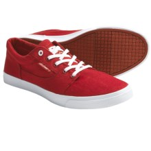 DC Shoes Bristol Canvas Skate Shoes (For Women) in Athletic Red/White - Closeouts