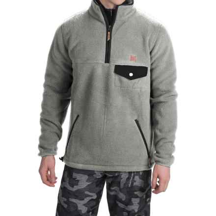 DC Shoes Calumet Polar Fleece Jacket - Zip Neck (For Men) in Heather Pewter - Closeouts