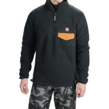 DC Shoes Calumet Polar Fleece Pullover Jacket - Zip Neck (For Men) in Anthracite - Closeouts