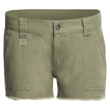 DC Shoes Catch Me Cargo Shorts - Brushed Twill (For Women) in Olive - Closeouts