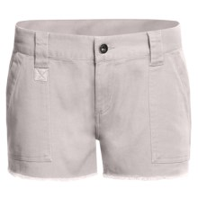 DC Shoes Catch Me Cargo Shorts - Brushed Twill (For Women) in Victorias Black - Closeouts
