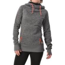 DC Shoes Cleo Hoodie (For Women) in Heather Pewter - Closeouts