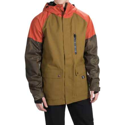 DC Shoes Clout Snowboard Jacket - Waterproof, Insulated (For Men) in Military Olive - Closeouts