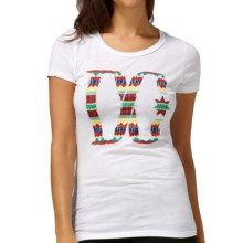 DC Shoes Cotton Graphic T-Shirt - Short Sleeve (For Women) in Akeem White - Closeouts