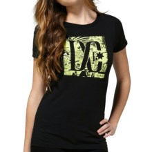DC Shoes Cotton Graphic T-Shirt - Short Sleeve (For Women) in All Ages Black - Closeouts