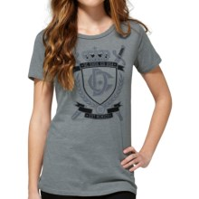 DC Shoes Cotton Graphic T-Shirt - Short Sleeve (For Women) in Referendum Heather Frost Grey - Closeouts