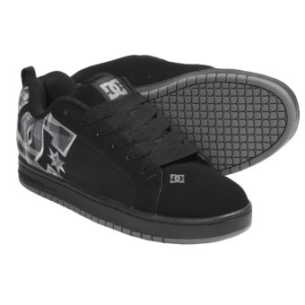 DC Shoes Court Graffik SE Skate Shoes (For Men) in Black/Black Plaid