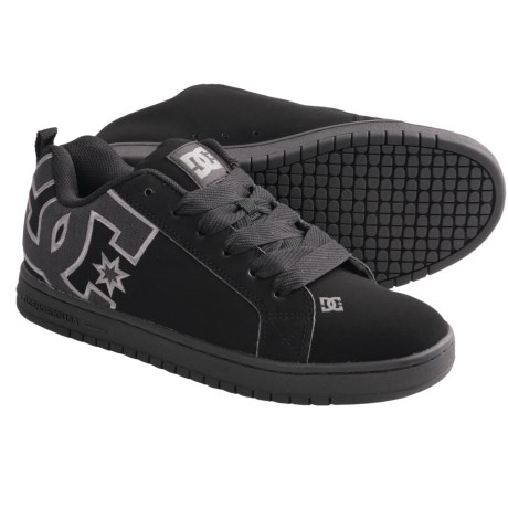 DC Shoes Court Graffik SE Skate Shoes (For Men) in Black/Dark Charcoal