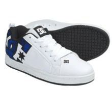 DC Shoes Court Graffik SE Skate Shoes (For Men) in White/Nautical Blue - Closeouts
