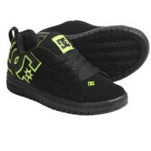 DC Shoes Court Graffik SE Skate Shoes (For Youth) in Black/Lime - Closeouts