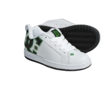DC Shoes Court Graffik SE Skate Shoes (For Youth) in White/Black Stripe - Closeouts