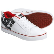 DC Shoes Court Vulc SE Skate Shoes (For Men) in White/Athletic Red - Closeouts