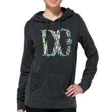 DC Shoes Crackle Terry Pullover Hoodie (For Women) in Black - Closeouts