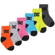 DC Shoes Crew Socks - 6-Pack (For Infant Boys) in Sky Diver Logo - Closeouts