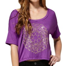 DC Shoes Crop Top - Short Dolman Sleeve (For Women) in Raputre Sparkling Grape - Closeouts