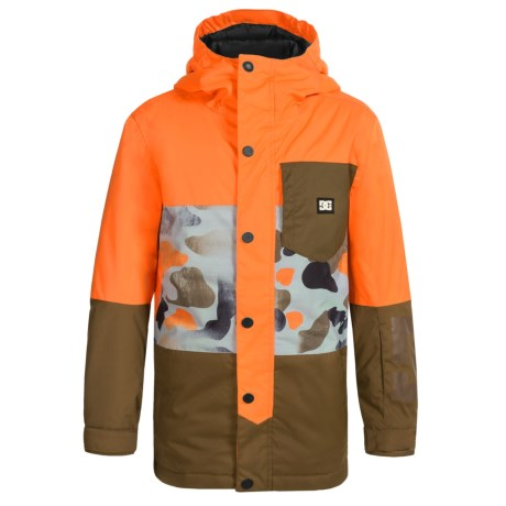 DC Shoes Defy Snowboard Jacket - Waterproof, Insulated (For Big Boys) in Mandarin
