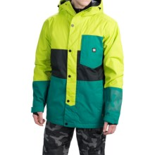 DC Shoes Defy Snowboard Jacket - Waterproof, Insulated (For Men) in Lime Punch - Closeouts