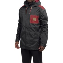 DC Shoes Delinquent Snowboard Jacket - Waterproof, Insulated (For Men) in Anthracite - Closeouts