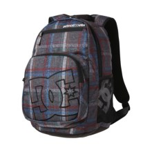 DC Shoes Detention Backpack (For Men) in Pewter/Plaid 1 - Closeouts