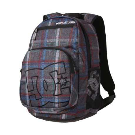 DC Shoes Detention Backpack (For Men) in Pewter/Plaid 1
